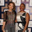 Carmen Ejogo et Vanessa Bush lors des 8es Essence Black Women organisées à Hollywood à l'hôtel Beverly Wilshire, le 19 février 2015.