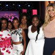 L'équipe de la série Orange is the New Black lors des 8es Essence Black Women organisées à Hollywood à l'hôtel Beverly Wilshire, le 19 février 2015.