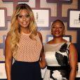 Laverne Cox et Vanessa Bush lors des 8es Essence Black Women organisées à Hollywood à l'hôtel Beverly Wilshire, le 19 février 2015.