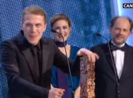 César 2015 : Kévin Azaïs, sacré meilleur espoir masculin par Julie Gayet