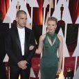 Scarlett Johansson et son mari Romain Dauriac - People à la 87e cérémonie des Oscars à Hollywood, le 22 février 2015.