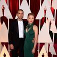 Romain Dauriac et Scarlett Johansson - 87e cérémonie des Oscars à Hollywood, le 22 février 2015.