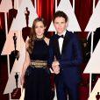 Eddie Redmayne et Hannah Bagshawe aux Oscars 2015.