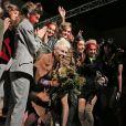 Final du défilé Vivienne Westwood Red Label automne-hiver 2015-2016 à Londres. Le 22 février 2015.
