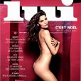 Laetitia Casta nue en couverture du dernier numéro de Lui, décembre 2014.