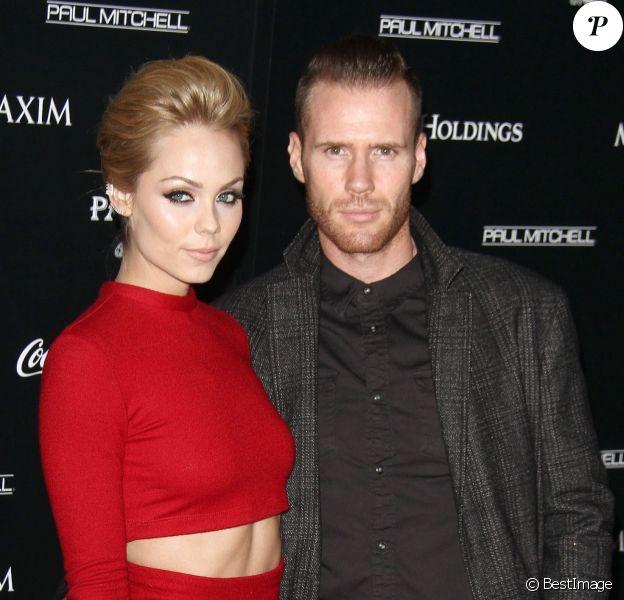 """Laura Vandervoort et son fiancé Oliver Trevena - Soirée """"Maxim's Hot 100 Women Of 2014"""" au centre Pacific Design à West Hollywood, le 10 juin 2014."""