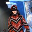 Kendall Jenner défile pour H&M Studio automne-hiver 2015-2016 au Grand Palais. Paris, le 4 mars 2015.