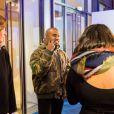 Kanye West au showroom des prétendants au LVMH Prize, avenue Montaigne. Paris, le 4 mars 2015.