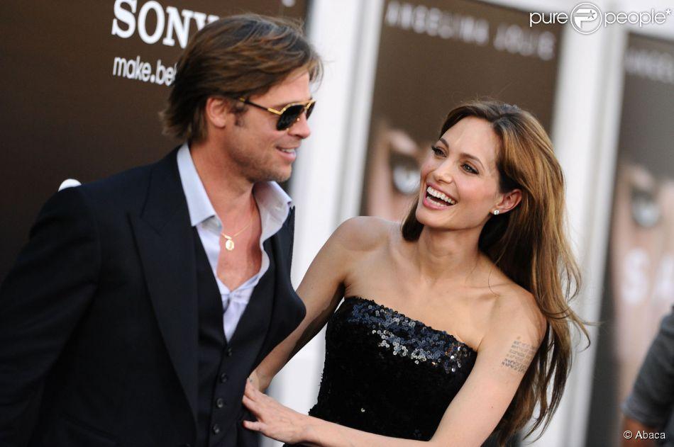Angelina Jolie et Brad Pitt à Los Angeles, le 19 juillet 2010.