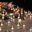 Des centaines de Niçois se sont rassemblés sur la promenade du Paillon à Nice pour rendre hommage à Camille Muffat décédée dans un accident d'hélicoptères en Argentine pendant le tournage d'une émission pour TF1 en allumant des bougies, le 10 mars 2015