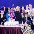 Britney Spears et son équipe fêtent une année de spectacles à Las Vegas, le 28 décembre 2014
