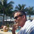 """""""Nicholas Brendon à Fort Lauderdale, photo publiée sur son compte Facebook le 13 février 2015"""""""