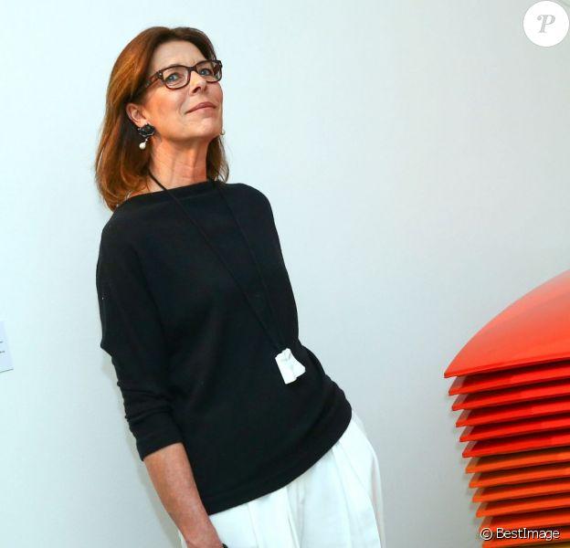 La princesse Caroline de Hanovre, avec son Keybag signé João Sabino, découvrait le 19 mars 2015 à la Villa Sauber (Nouveau Musée National de Monaco) le deuxième volet de l'exposition Construire une collection.