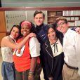 Lea Michele a posté sur Twitter cette photo quelques instants après la diffusion du dernier épisode de la série  Glee , le vendredi 20 mars 2015.