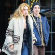 """Exclusif - Scout Willis et son petit ami à la sortie de l'hôtel """"The Bowery"""" à New York, le 19 mars 2015 For germany call for price Exclusive - Demi Moore & Bruce Willis' daughter Scout Willis and her boyfriend seen leaving The Bowery Hotel in New York City, New York on March 19, 201519/03/2015 - New York"""