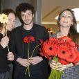 Emmanuelle Bercot, Félix Moati et Camille Chamoux enceinte - Ouverture de la 16e édition du Printemps du cinéma au Cinéma Pathé Beaugrenelle à Paris, le 22 mars 2015