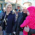 Holly Madison avec son époux et leur fille au festival de Sundance, le 18 janvier 2014.