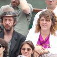 Arthur H et sa femme Alexandra Mikhalkova à Roland-Garros en 2011.