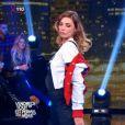 Les jolies Ariane Brodier et Laury Thilleman s'écharpent après un strip-tease raté, le 27 mars 2015 dans VTEP sur TF1.