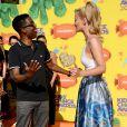 Chris Rock et Iggy Azalea assistent à la 28e édition des Kids Choice Awards, au Forum. Inglewood, Los Angeles, le 28 mars 2015.