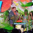 Nolan Gould, Jesse Tyler Ferguson, Rico Rodriguez, Sarah Hyland et Ariel Winter (Modern Family, série télé familiale préférée) lors des 28e Kids Choice Awards, au Forum. Inglewood, Los Angeles, le 28 mars 2015.