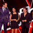 La coach Jenifer sublime en robe Junya Watanabe - Premier  live  de  The Voice 4  sur TF1. Samedi 4 avril 2015.