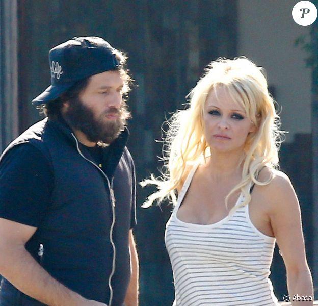 Pamela Anderson et Rick Salomon à Calabasas, Los Angeles, le 13 janvier 2015.