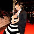 Dannii Minogue et Kris Smith aux National Television Awards à Londres, le 20 janvier 2010