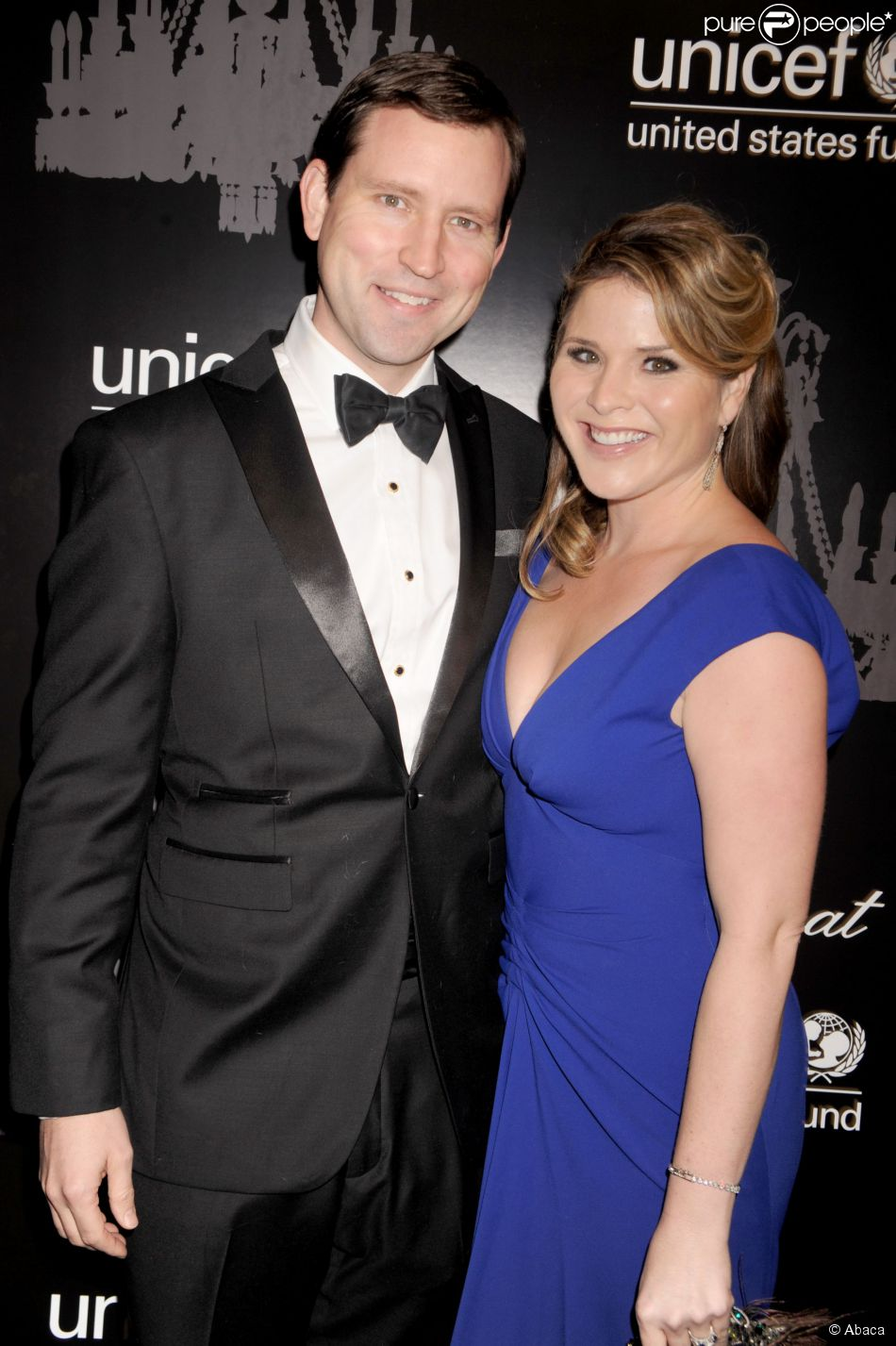 Jenna Bush et son mari Henry Hager à New York le 3 décembre 2013.
