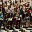 Le prince Edward, duc de Kent, à gauche, avec la famille royale britannique lors de la cérémonie commémorant le déploiement et le tribut britanniques en Afghanistan, le 13 mars 2015 en la cathédrale St Paul, à Londres.