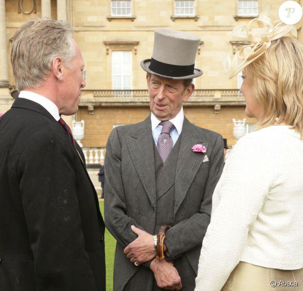 Le prince Edward, duc de Kent, à Buckingham le 3 juin 2014 lors d'une garden party officielle