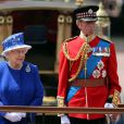 Elizabeth II et son cousin le prince Edward, duc de Kent, en juin 2013 lors de la parade Trooping the Colour à Londres