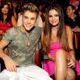 Justin Bieber et Selena Gomez au Gibson Amphitheatre à Universal City, Los Angeles, le 22 juillet 2012