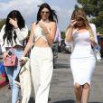 Les soeurs Kylie Jenner, Kendall Jenner et Khloe Kardashian - La famille Kardashian à la messe de Pâques à Calabasas. Le 5 avril 2015