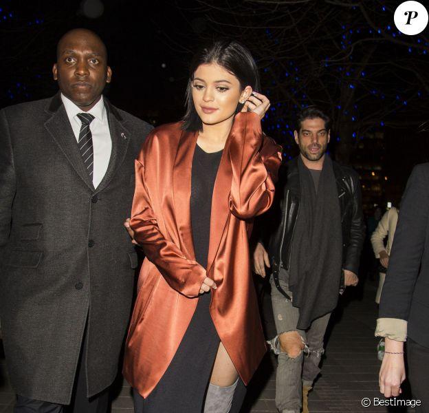 Kylie Jenner arrive à un restaurant à Londres Le 14 Mars 2015