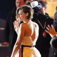 Kristen Stewart au théâtre du Châtelet à Paris le 20 février 2015.