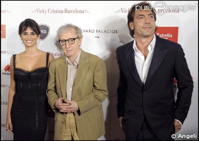 Javier Bardem, Woody Allen et Penélope Cruz