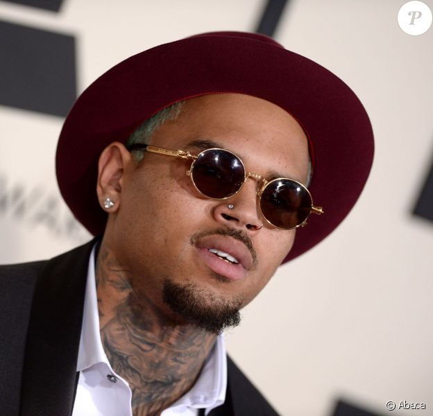 Chris Brown assiste aux 57e Grammy Awards au Staples Center. Los Angeles, le 8 février 2015.