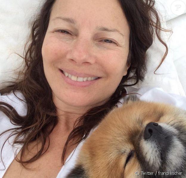 Fran Drescher - La comédienne dévoile une photo d'elle au naturel sur son compte Twitter. Avril 2015.