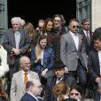 Obsèques du tailleur italien Francesco Smalto en l'église Saint-Jean-Baptiste à Neuilly-sur-Seine, le 10 avril 2015.