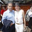 Patrice Dominguez et sa femme Cendrine au tournoi de Roland-Garros à Paris, le 30 mai 2012.