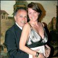 Cendrine Dominguez et son mari Patrice lors du dîner des présidents du Grand Chelem au restaurant La Tour d'Argent à Paris, le 10 juin 2007
