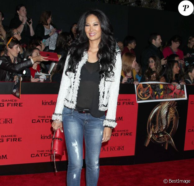 Kimora Lee Simmons - Personnalites lors de la premiere du film « The Hunger Games : Catching Fire » au Nokia Theatre a Los Angeles le 18 novembre 2013.