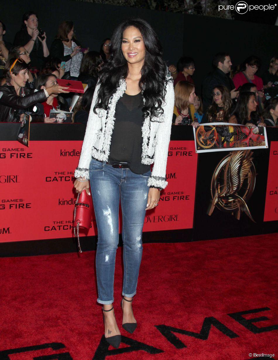 Kimora Lee Simmons - Personnalites lors de la premiere du film « The Hunger Games : Catching Fire » au Nokia Theatre a Los Angeles le 18 novembre 2013.