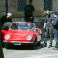 """Ben Stiller tourne des scènes du film """"Zoolander 2"""" à Rome le 13 avril 2015"""