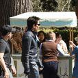 Ben Stiller sur le tournage de Zoolander 2 à la Villa Borghese, Rome, le 13 avril 2015.