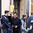 Ben Stiller tourne Zoolander 2 sur la Via Condotti à Rome, le 14 avril 2015.