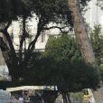 L'acteur et réalisateur Ben Stiller en action sur le tournage de Zoolander 2, Via Dei Fiori Imperiali, Rome, le 15 avril 2015.