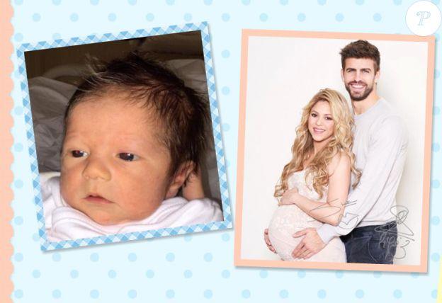Première photo de Sasha, le deuxième bébé de Shakira et Gerard Piqué - février 2015