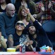 Amber Rose assiste à un match de basket à Los Angeles le 7 avril 2015.